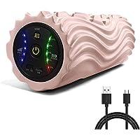 [2020進化版]USB充電式電動フォームローラー 振動筋膜マッサージポール リリースストレッチ5段階振動速度可調整 日本語取扱説明書付き
