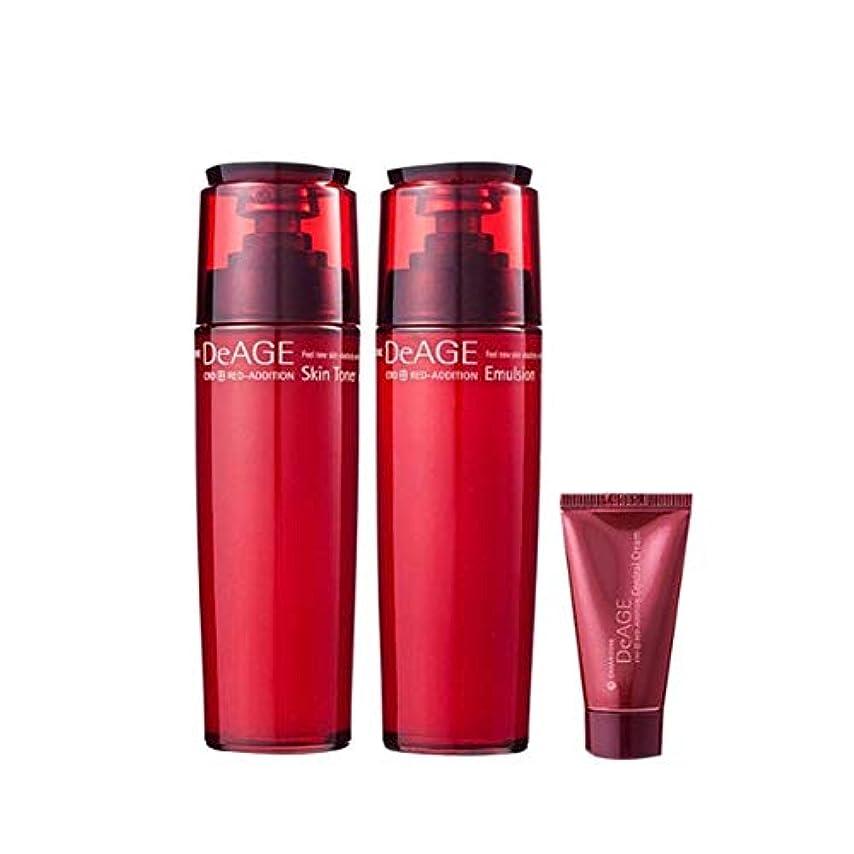 有利逃れる環境チャムジョンディエイジレッドエディションセット(スキントナー130ml、エマルジョン130ml、コントロールクリーム15ml)、Charmzone DeAGE Red Addition Set(Skin Toner 130ml...