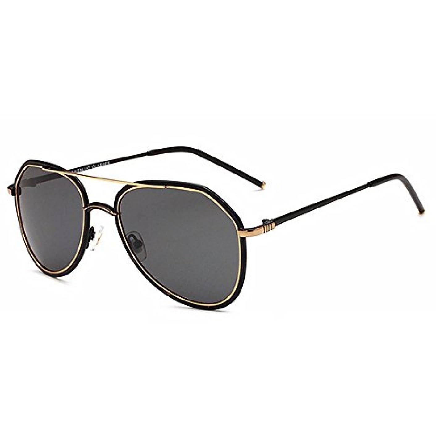 保全評論家俳優サングラス 超軽量 偏光レンズホルダー UVプロテクション メン ズサングラ ヴィンテージ FA-65 (Gold)