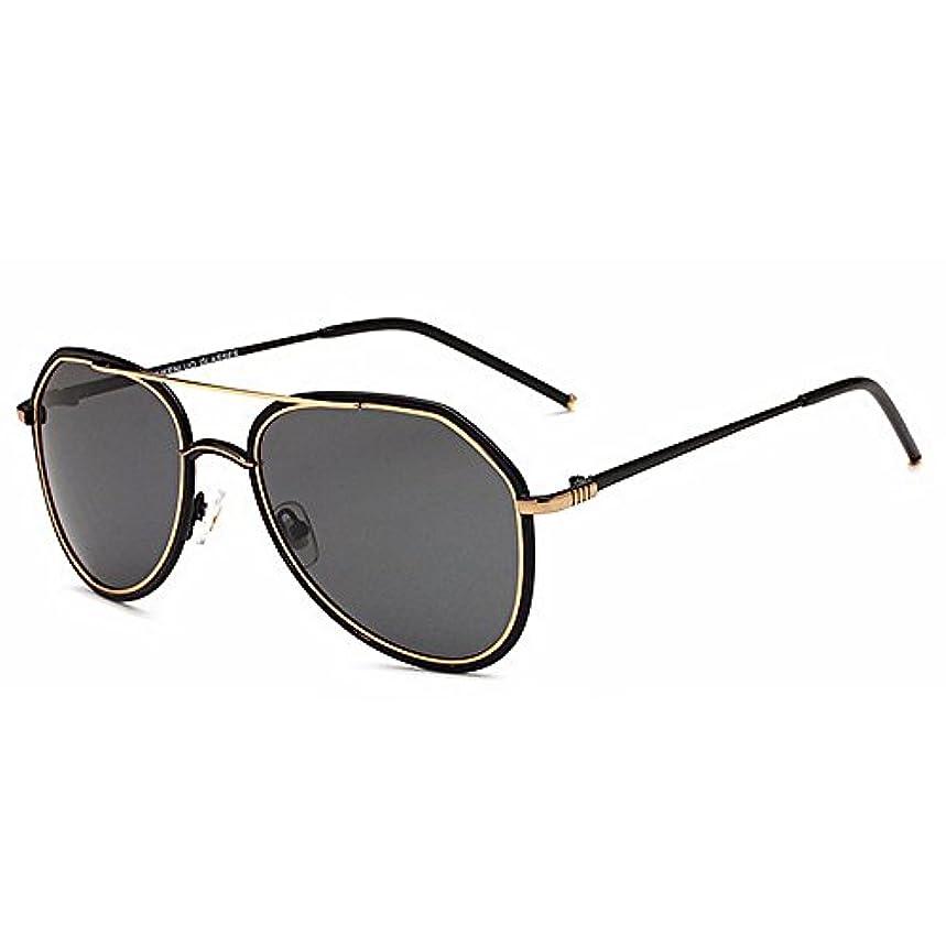 ペレットとまり木上がるサングラス 超軽量 偏光レンズホルダー UVプロテクション メン ズサングラ ヴィンテージ S-64 (Gold)