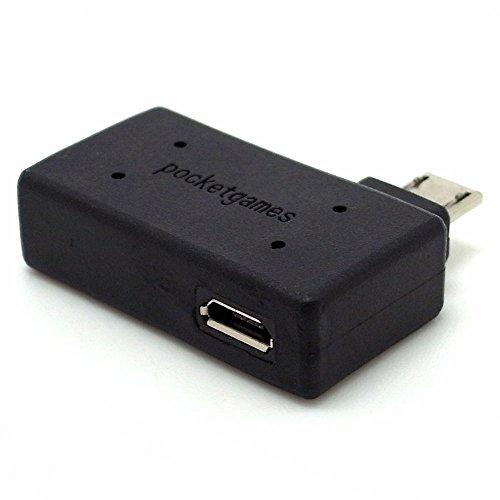 『【pocketgames】USB機器への給電機能付き! スマートフォン対応 ポケットホストアダプタ microUSB セルフパワー type2 4111』のトップ画像