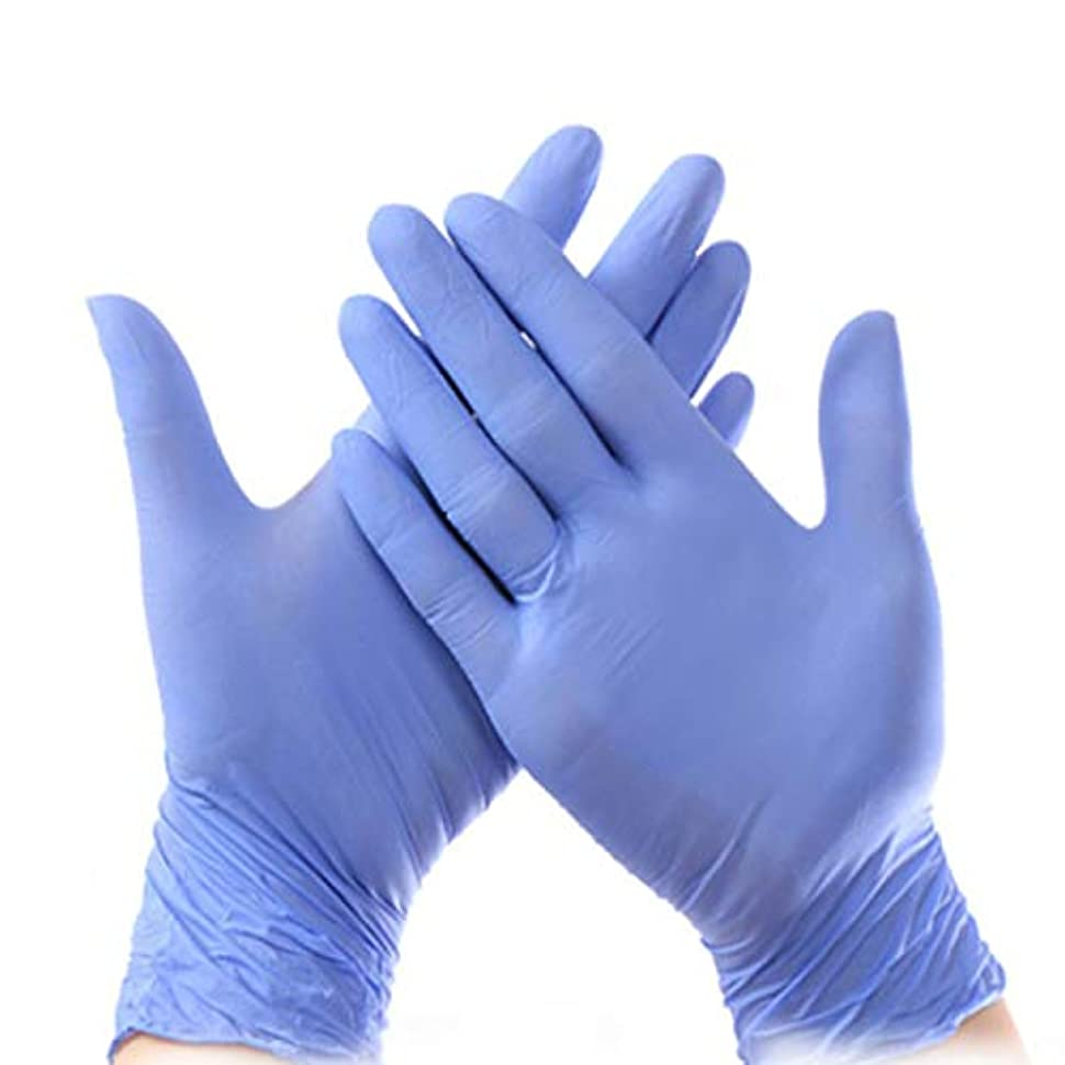 頭蓋骨大胆アトム使い捨て手袋 ニトリル工業用手袋、パウダーフリー、使い捨て食品安全、パープル、ラテックスフリー、100個入り ニトリルゴム手袋 (Color : Purple, Size : S)