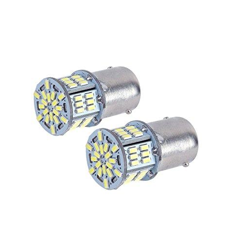 SUPAREE S25 シングル球 LED バックランプ 3014SMD 54連 ホワイト ピン角180度 6000-6500K 12V/24V車用 1080LM 2個入り 一年保証付き
