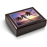 マジェスティックPalm Trees FloridaサンセットタイルMusicalジュエリーボックス 0-Choose Songs-0 MBA-44TL-Sunset