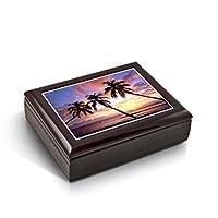 マジェスティックPalm Trees FloridaサンセットタイルMusicalジュエリーボックス 24. Anniversary Song MBA-44TL-Sunset
