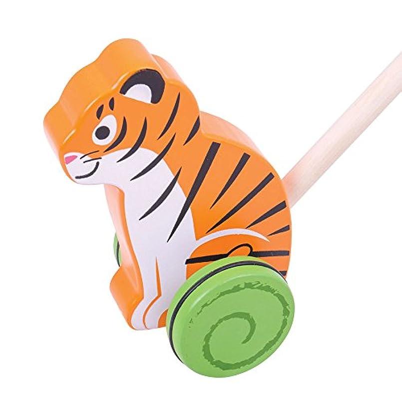 極めて重要な億文房具Bigjigs Toys木製Tiger Push Along – Walkingおもちゃfor Babies and Toddlers