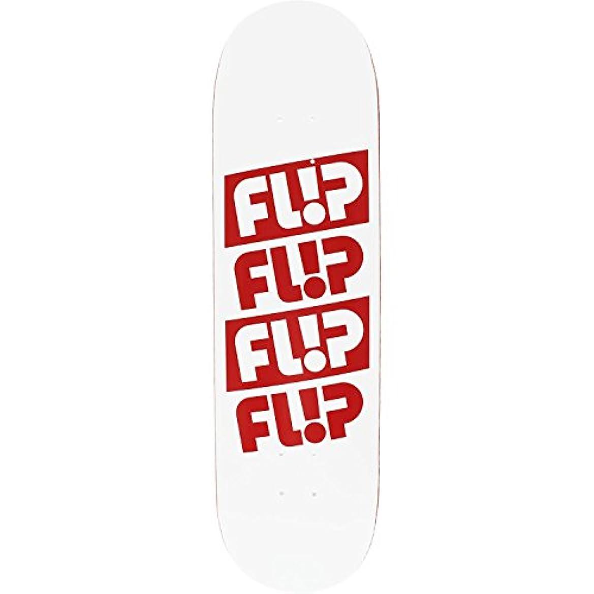 投票マインド相互接続Flip Odyssey Quattroデッキ-8.38ホワイト/レッド – Assembled as complete skateboard