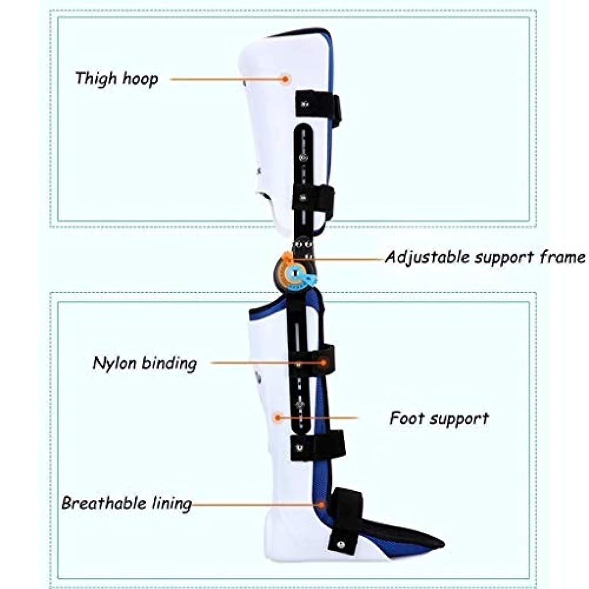 アーサーコナンドイルガイダンスリビジョンヒンジ付きROM膝ブレース、膝蓋骨損傷イモビライザーサポート医療整形外科用ガードプロテクター-ACL、靭帯、スポーツ傷害用の調整可能なフルレッグスタビライザー (Color : As Picture, Size : Left)