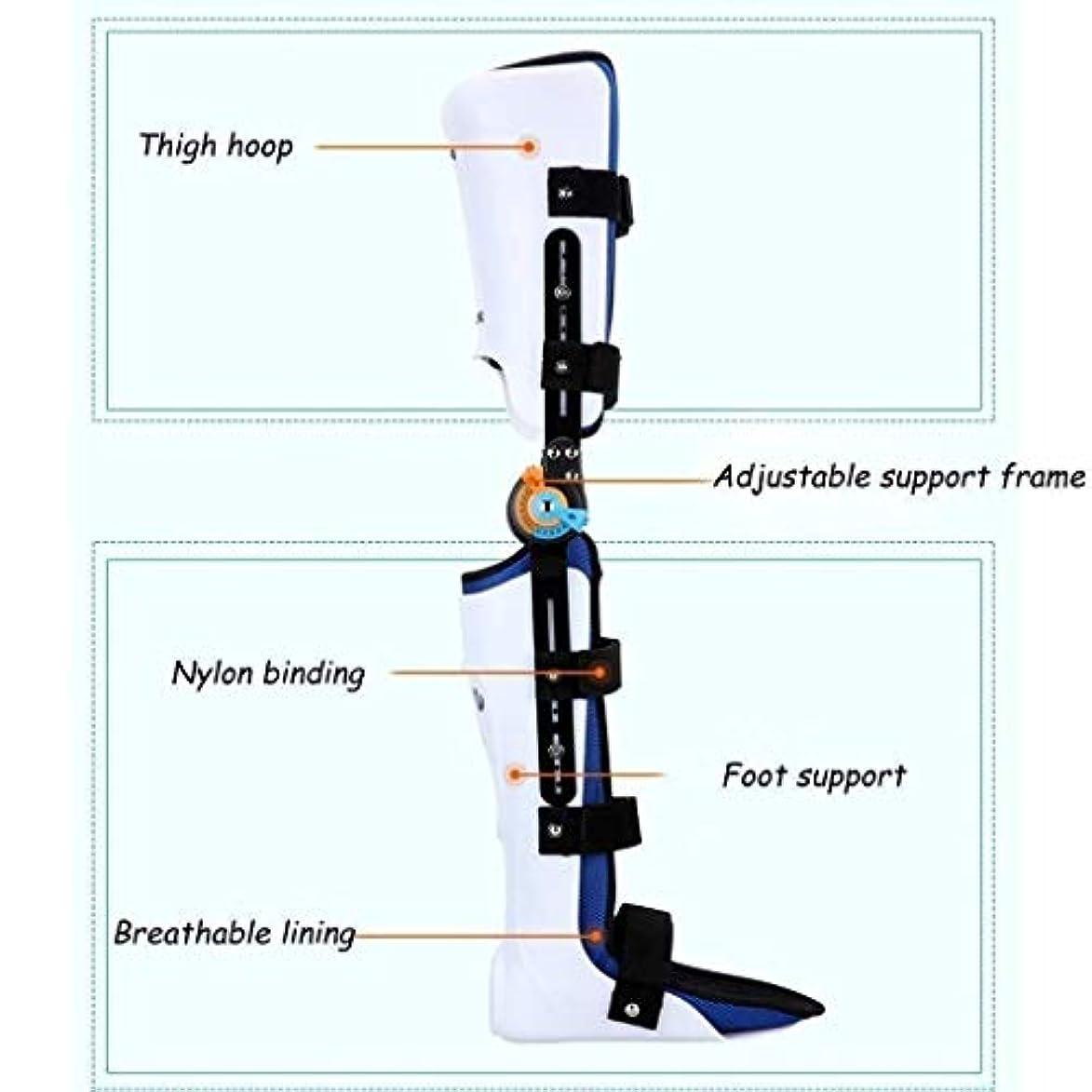 キルトクレーン透けるヒンジ付きROM膝ブレース、膝蓋骨損傷イモビライザーサポート医療整形外科用ガードプロテクター-ACL、靭帯、スポーツ傷害用の調整可能なフルレッグスタビライザー (Color : As Picture, Size : Left)