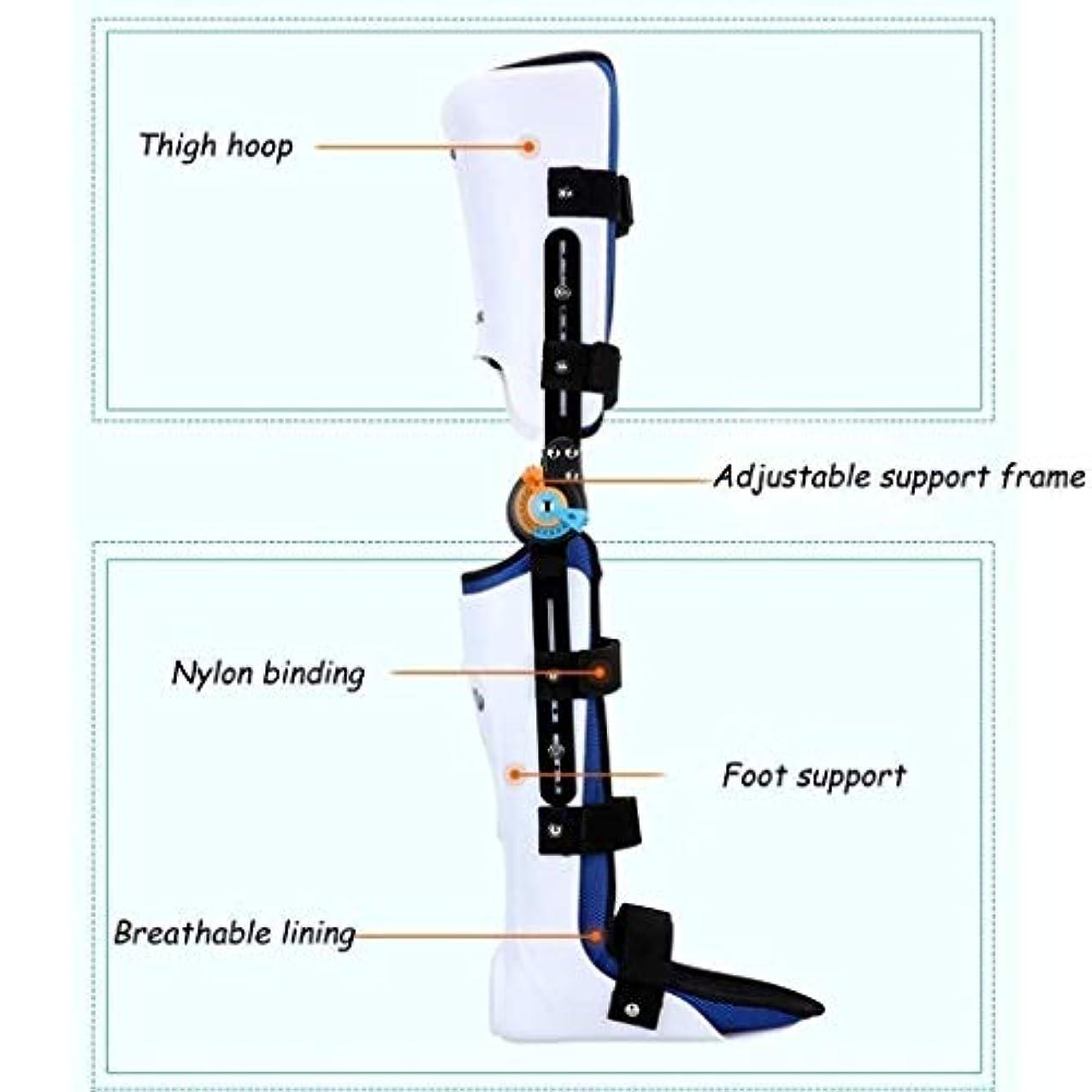 検査たらいましいヒンジ付きROM膝ブレース、膝蓋骨損傷イモビライザーサポート医療整形外科用ガードプロテクター-ACL、靭帯、スポーツ傷害用の調整可能なフルレッグスタビライザー (Color : As Picture, Size : Left)