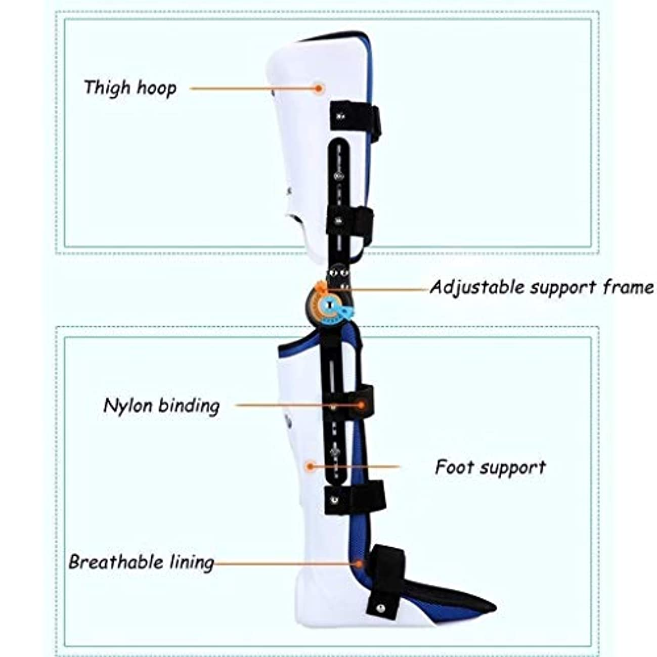 火山学者前方へ叙情的なヒンジ付きROM膝ブレース、膝蓋骨損傷イモビライザーサポート医療整形外科用ガードプロテクター-ACL、靭帯、スポーツ傷害用の調整可能なフルレッグスタビライザー (Color : As Picture, Size : Left)