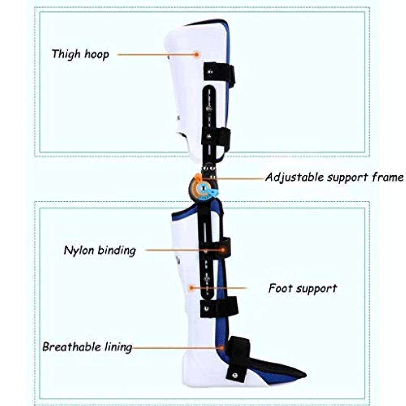 わずかな間違いなく癒すヒンジ付きROM膝ブレース、膝蓋骨損傷イモビライザーサポート医療整形外科用ガードプロテクター-ACL、靭帯、スポーツ傷害用の調整可能なフルレッグスタビライザー (Color : As Picture, Size : Left)