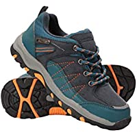 Mountain Warehouse Stampede Kids Walking Shoes - High Traction Sole Running Shoes, Waterproof Rain Shoes, Suede & Mesh Upper Childrens Summer Shoes – for Boys & Girls