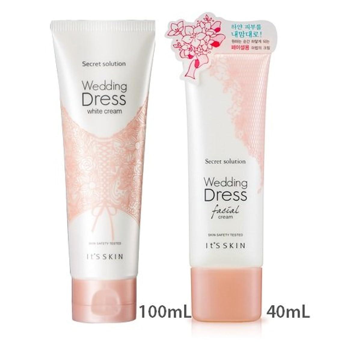 保護どれでも貫入[1+1] It's skin Secret Solution Wedding Dress Facial Cream 40mL + Secret Solution Wedding Dress Cream 100mL イッツスキン...