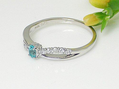 J-Jewelry レディース プラチナ パライバトルマリン ダイヤモンドファッションリング 指輪