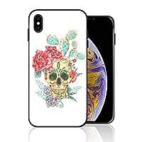 iPhone XR 携帯カバー メキシコ 髑髏 バラ サボテン 髑髏 カバー TPU 薄型ケース 防塵 保護カバー 携帯ケース アイフォンケース 対応 ソフト 衝撃吸収 アイフォン スマートフォンケース 耐久