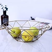 CKH 北ヨーロッパのフルーツバスケットクリエイティブ多機能鍛造フルーツボウルリビングルームの装飾ファッション家庭用スナック料理フルーツボックスゴールド