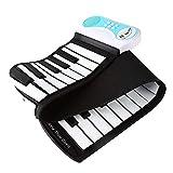 キッズ49鍵フレキシブルロールアップ教育用電子デジタル音楽ピアノ鍵盤録音機能、8種類の音色、6種類の教育用デモソング&ビルトインス..