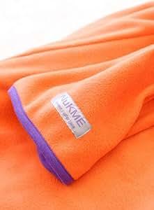 NuKME(ヌックミィ) 袖つきマイクロファイバー毛布 オレンジ