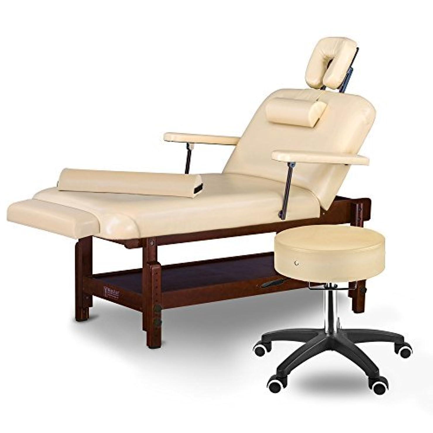 整然とした違反八百屋Master Massage Samson Stationary Massage Table Salon Beauty Bed Package Cream 31 [並行輸入品]