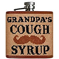 Grandpa 's Cough Syrup Needlepointフラスコ