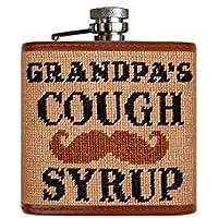 Grandpa 's Cough Syrup Needlepointフラスコ