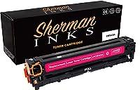 シャーマン マゼンタ 互換トナーカートリッジ 交換用 プリンターモデル HP 125A カラーレーザージェット CM1312 MFP カラーレーザージェット CM1312nfi カラーレーザージェット CP1215 カラーレーザージェット CP1515n レーザージェット CP1518ni