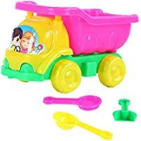 LIOOBO 4pcs Beach Play Sand Car Plastic Toys Play Vehicles Dump Truck Play Toy Drop-Resistant Play House Toy for Infant Children Kids(Random Color)