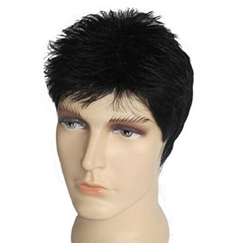 Richair メンズウィッグ 人毛100%  カジュアル スタンダード男性 通気  抗菌ネット かつら・ウィッグ