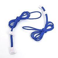 TOOGOO ペア 便利な靴紐 弾性靴ひも 弾性ロープ 110cm ディープブルー