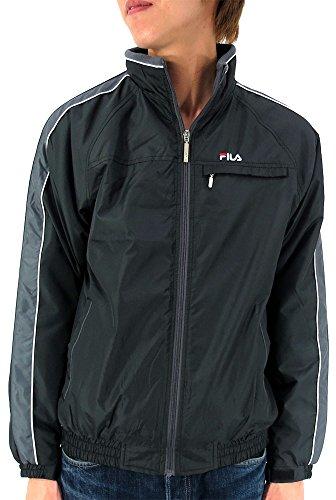 (フィラ) FILA アウター メンズ 裏 フリース ジャケット ナイロンジャケット ジャンパー 4color L ブラック