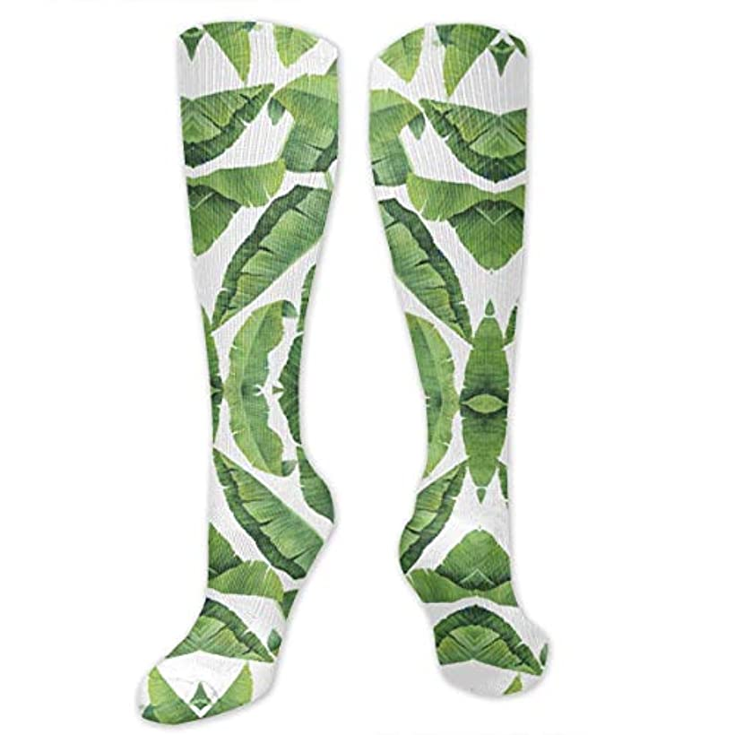 日付付き最大限吐き出す靴下,ストッキング,野生のジョーカー,実際,秋の本質,冬必須,サマーウェア&RBXAA Watercolor Banana Leaves Socks Women's Winter Cotton Long Tube Socks...