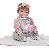 Smiling Rebornで新生児ガールズソフトビニールベビーシリコン人形22インチRealistic子供磁気おもちゃおしゃぶり
