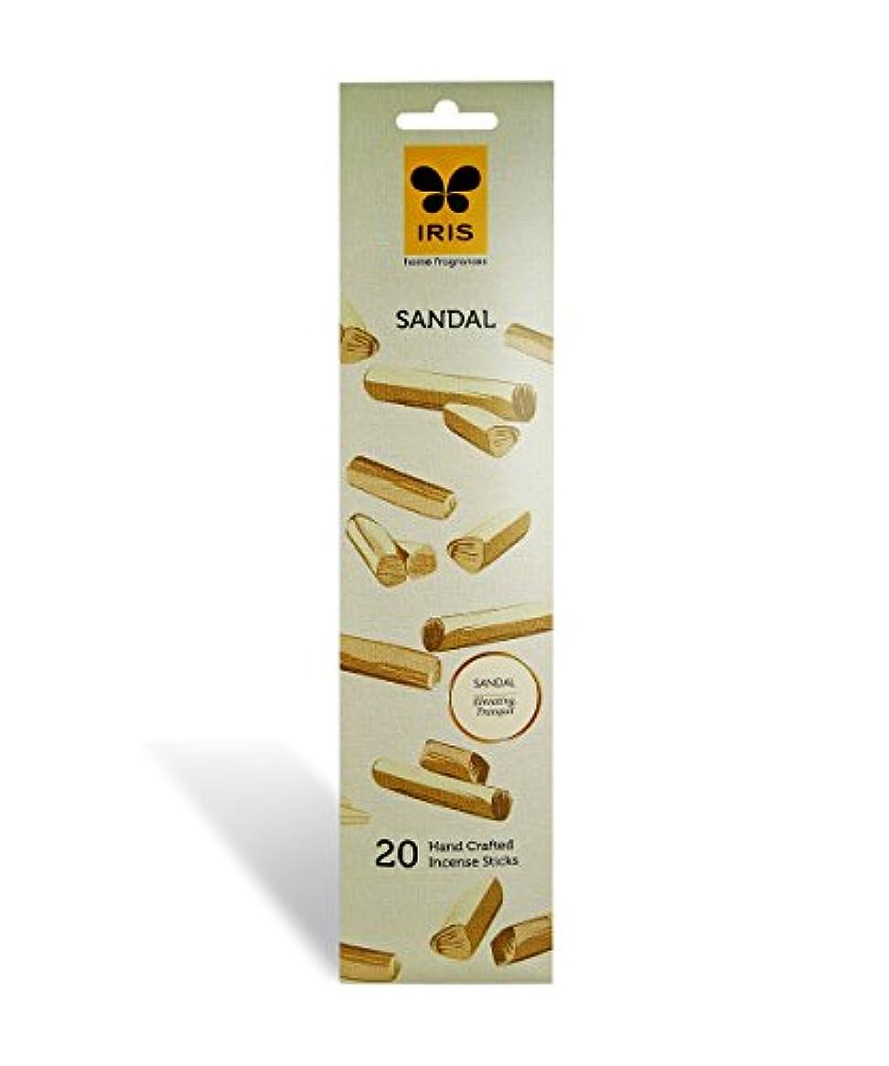 排除する錫炭素IRIS Signature Sandal Fragrance Incense Sticks