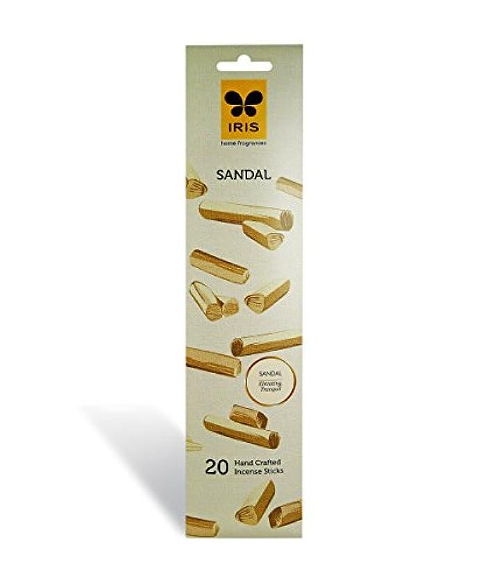 チャーミング液化する苛性IRIS Signature Sandal Fragrance Incense Sticks