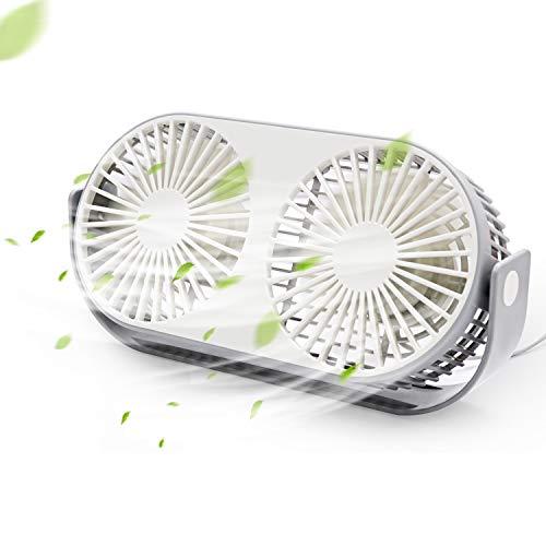 卓上扇風機 ミニファン SPAZEL USB扇風機 ツインファン 超強力送風 3段階調節 熱中症対策 アロマ箱付き オフィス 寝室 スタジオ用 軽量