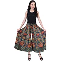 AYAT Cotton Women's Smocked Waist Harem Hippie Indian Trousers Boho Bohemian Pants Good for Party Holiday Yoga