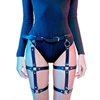 LINE Leather Women's Leather Leg Harness Caged Garters Waist Belt Adjustable