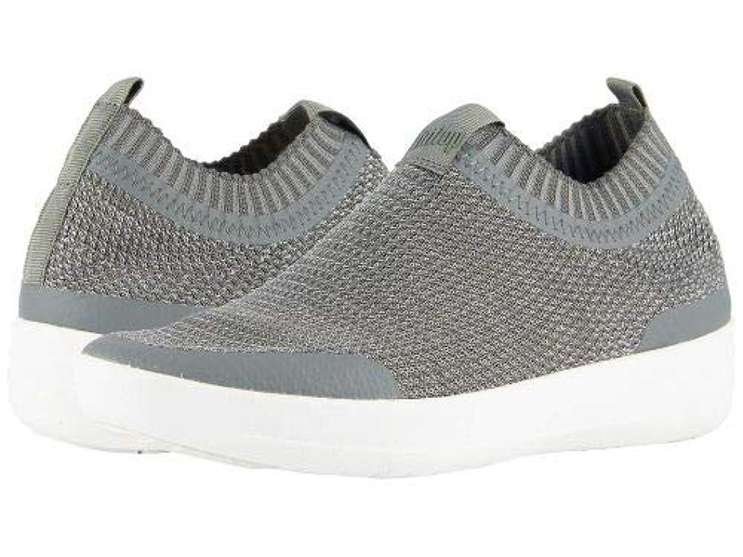 複製代理店場合FitFlop(フィットフロップ) レディース 女性用 シューズ 靴 スニーカー 運動靴 Uberknit Slip-On Sneakers - Charcoal/Metallic Pewter [並行輸入品]