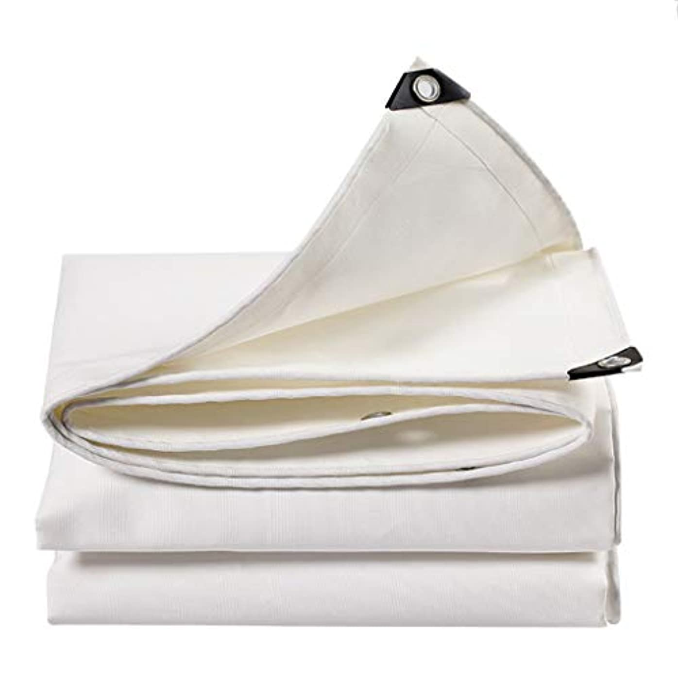 ベース雇用者スラム街白 ターポリン 0.8mm PVC 防水 耐候性 紫外線引裂抵抗 耐老化性 キャンプ 絶縁 アウトドア タープ キャンバス