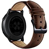 Soft Leather Straps Compatible for Samsung Galaxy Watch Active Watchband Wristband Unisex Adult