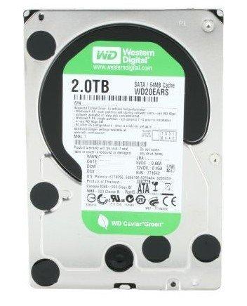 WESTERN DIGITAL WD20EARS Caviar Green 2TB 64MB cache SATA 3.0Gb/s 3.5 internal hard drive (Bare Drive) [並行輸入品]