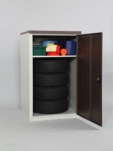 【物置・倉庫】【物置 収納】耐荷重80kg鍵付タイヤ収納庫