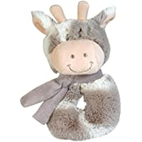 Stephan Baby Gift-Boxed Velvety Plush Ring Rattle, Ginny Giraffe by Stephan Baby