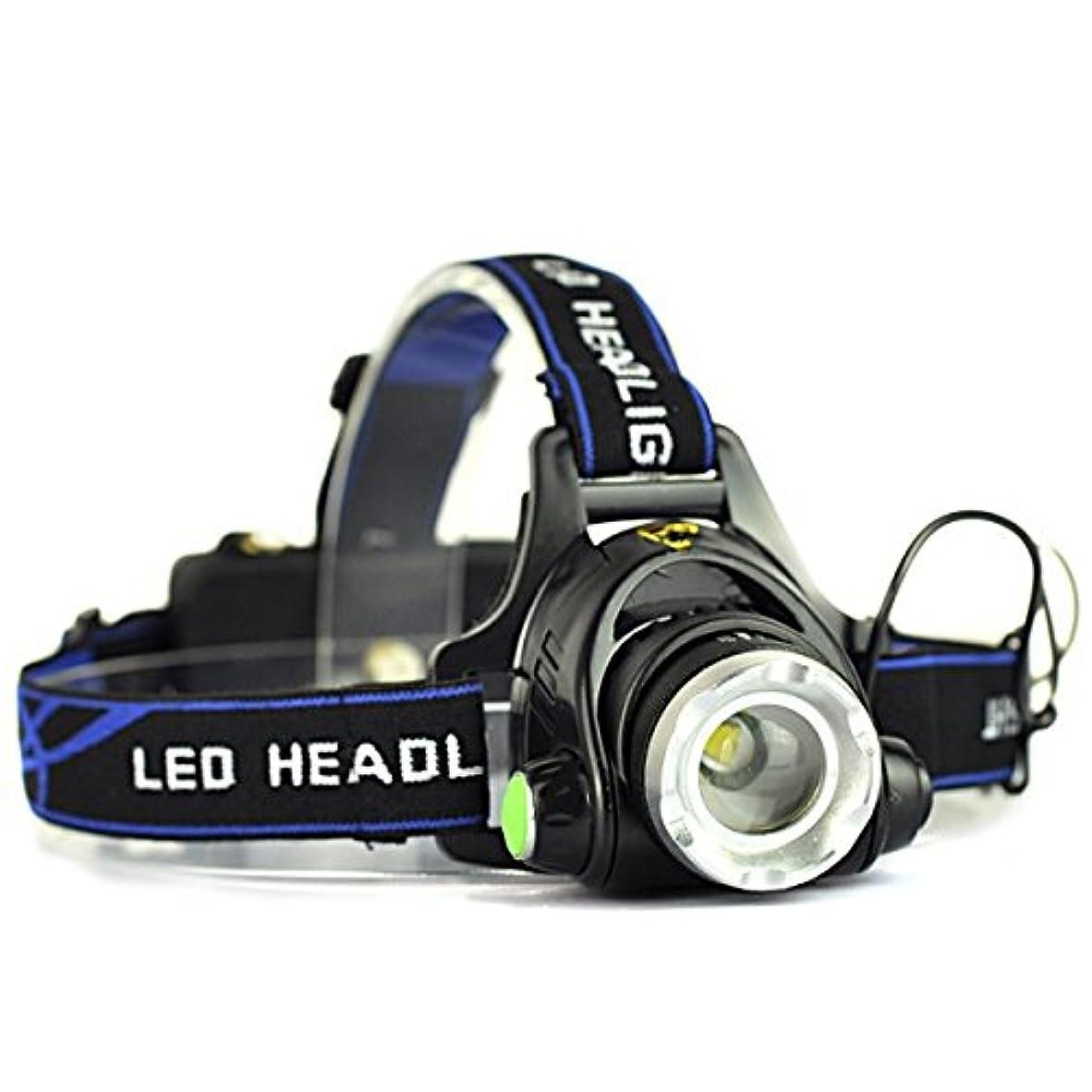 省略グリップ必須LED強力ヘッドランプ 明るさ1000ルーメン 電球 3つの点灯モードheadlight  ズーム機能付きスポットライト 角度調整 防水作業用、キャンプ用 便利 [並行輸入品]