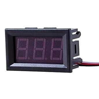 SODIAL(R) ミニデジタル電圧計の電池電圧0-30V DC テスター試験車赤い車