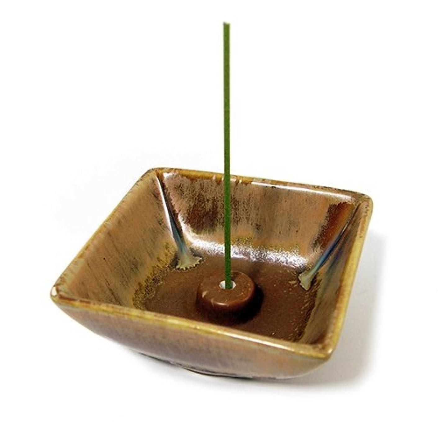 幸福彫刻スリチンモイShoyeidoの素朴なトレイセラミックIncense Holder