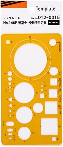 ウチダ テンプレート No.140F 建築士・受験者用定規 012-0015