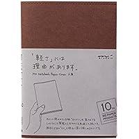 ミドリ ノートカバー  MDノートカバー 文庫 10th 紙 こげ茶 49861006