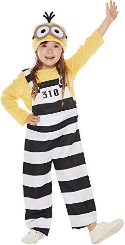 囚人 ミニオン キッズコスチューム 男女共用 対応身長100cm-120cm...